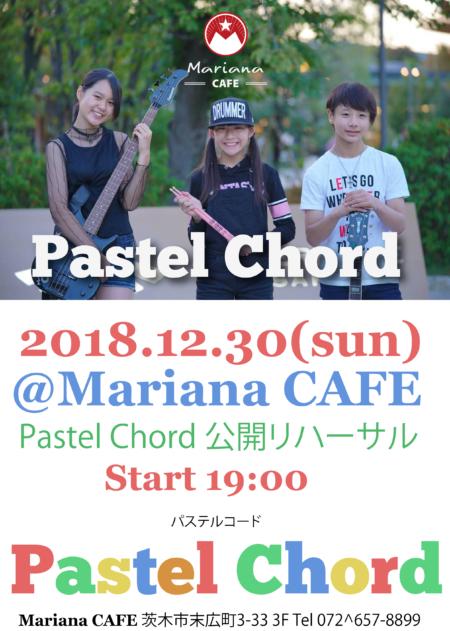 写真:Pastel Chord Live @Mariana CAFE