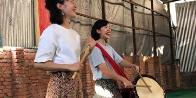 写真:矢野姉妹 和太鼓ライブ