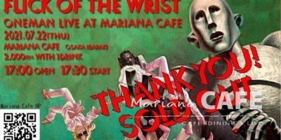 写真:Flick Of The Wrist Oneman Live @Mariana CAFE